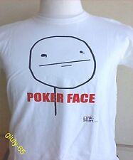 MAGLIA POKER FACE Tg. L (torace cm.104) maglietta comoda FACEBOOCK T-SHIRT MEMES