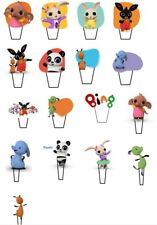 19 Bing Rabbit STAND UP Cupcake PRE-CUT Topper Edible Paper Decorations edible