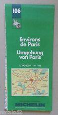 carte MICHELIN 106 FRANCE ENVIRONS DE PARIS - 1992