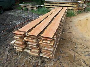 Douglasie unbesäumt Bretter Bohlen Regal Zaun Schwarten 20-30x2,3cm bis 4m Länge