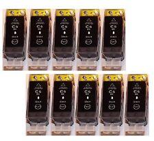 10 schwarz Tinte für Canon IP4200 IP4300 IP4500 IP3300 MP500 MP510 MP600 MP800 R