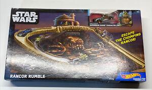 Hot Wheels Star Wars Rancor Rumble Track Set New Exclusive Gamorrean Guard Car