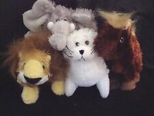 Webkinz PLUSH ONLY LOT of 4 LIL KINZ : SEAL + HORSE + LION + ELEPHNT- JUST PLUSH