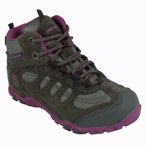 GIRLS HI TEC PENRITH MID WP JRG LACE UP JUNIOR OUTDOOR ANKLE BOOTS LEATHER SIZE
