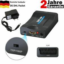 Scart zu auf HDMI Konverter Wandler AV Scaler Converter Adapter 1080P EU NEU DE