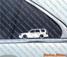 2x Lowered car outline stickers -for Subaru Forester XT Turbo SG 2nd generation
