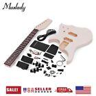 Unfinished DIY Electric Guitar Kit Maple Neck Rosewood Fingerboard g O3V8 for sale