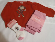 GYMBOREE Baby Girls 3-6 Month Fall For Monkeys Sweater Socks Leggings Outfit NWT
