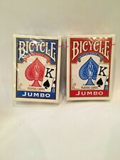Bicycle Jumbo Playing Cards Lot Of (2) New/Sealed