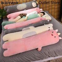 Cartoon Cute Long Pillow  Plush Toy Soft Cartoon Soft Animal Stuffed Doll Gift