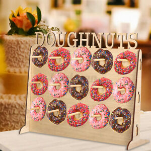 50x40 Wooden Donuts Wall Stand Holds Doughnut Storage Rack Wedding Party