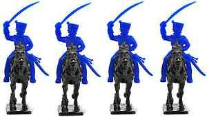 Timpo Recast French Chasseurs with Cloned Italeri Horses 54mm unpainted plastic