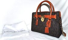 Michael Kors Hamilton East/West Brown Logo Satchel,Pre-owned (See Condition)$298