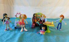 Vintage 4 Groovy Girls Minis Bendable Alida Janna Ronni Yvette Jeep Booth TCFC
