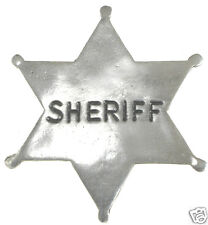 SHERIFF STAR POLICE BADGE OLD WEST BADGE Made In USA PEWTER 10