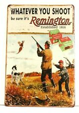 New Remington Rifles Guns Tin Poster Sign Vintage Ad Style Garage Man Cave Shop