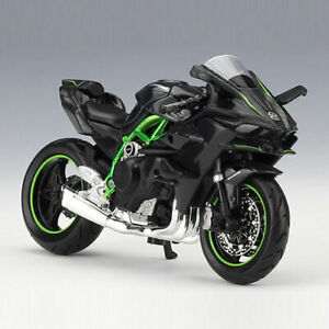 1:18 Kawasaki Ninja H2 R Motorcycle Model Diecast Motobike Model Toy Kids Gift