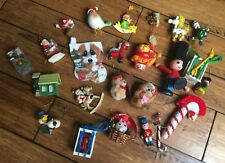 Vintage Lot of 24 Christmas Ornaments Various Styles See All Pictures