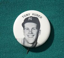Great 1960s New York Yankees TONT KUBEK Pin Back Button, Minty!