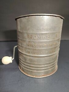 Vintage Bromwell's 5 Cup Measuring Sifter Tin Farmhouse Decor