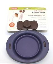 Dexas Popware Collapsible Kennel Bowl Round Small Purple 1 Cup 8 oz for Pets