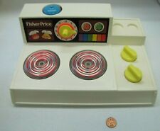 Vintage Fisher Price Fun with Food MAGIC BURNER STOVE KITCHEN Bell Warmer Toy