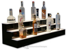 44 3 Step Tier Led Lighted Shelves Illuminated Liquor Bottle Display Free Ship