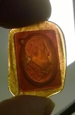 19th C Amber Glass Intaglio - Classical  Man  #7