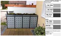 Mülltonnenbox aus Metall Müllbox Mülltonnenschrank 4x240-l-PfD-foliert