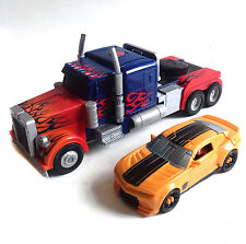 Transformers Optimus Prime Stealth Weapons Truck & Bumblebee car toy figure set