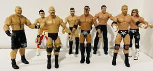 (8) 2011 Mattel WWE Wrestling Action Figures Steve Austin The Rock