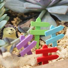 10Pcs Miniature Signs Fence Fairy Figurine Dollhouse Garden Ornament Decoration