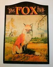 Fox English countryside animal A4 mini British pub signnew
