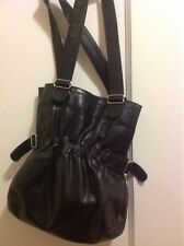 Rudsak Purse Black  Leather Boho Shoulder Hobo Purse
