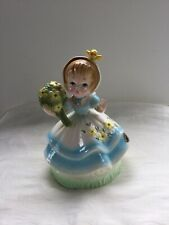 Vintage Josef Music Box Figurine Plays What A Beautiful Morning Song  ~Oklahoma