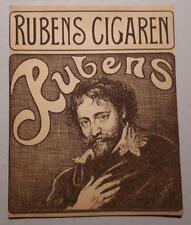 BELGIUM  FLEMISH  PAINTER PETER  PAUL  RUBENS ORIGINAL CIGAR BOX  LABEL