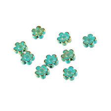 10pcs Bronze Green Flower Shaped Spacer Lose Beads Fit DIY Necklace/Bracelet