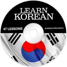 Learn To Speak Basic Korean Language Audio MP3 + E Book PDF Lessons on CD