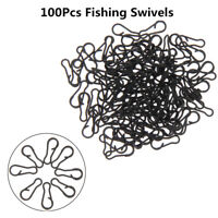 50/100Pcs Multi Clip Carp Fishing Tackle Quick Change Snap Swivels Lead Rig Link