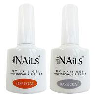 Miss Nails® TOP and BASE COAT For UV LED Nail Gel Soak Off Polish BULK PACK 10ml
