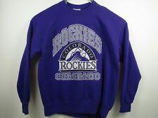 Vintage Mens Lee Sport 2XL Purple Colorado Rockies Pullover Sweatshirt USA Made