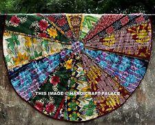 Indian Kantha Work Quilt Round Roundie Tapestry Throw Yoga Mat Wall Hanging Rug