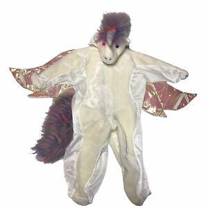 Unicorn Pegasus Plush Halloween Costume Dress Up Gift Infant Toddler Shiny Wings