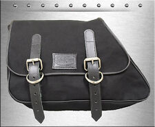 1982-2003 La Rosa Black Canvas Eliminator Harley Sportster 1200 883 Saddle Bag