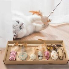 Pet Cat Teaser Playing Sticks Feather Interactive Toys Pet Supplies Accessories