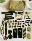 US+Army+Pouch+with+Asst+Ribbons%2C+Bars%2C+Medals%2C+Pins%2C+Buttons%2C+Buckles%2C+%26+Patches