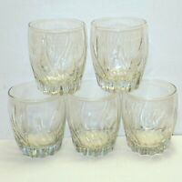 Anchor Hocking Glasses Low Ball Tumblers Swirled Whiskey Barware Set of 4