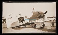 1932 Original Photo Neg~Gee Bee R-2 Racer at Cleveland Air Races~RARE OPEN HATCH