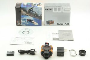 【MINT in Box】 Ricoh WG-M1 Waterproof Action Camera Orange Set From Japan