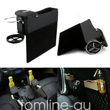 2X Car Seat Gap Slit Back Organizer Filler Storage Box Pocket Cup Holder Leather